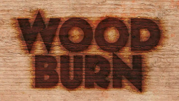 how to make a burnt wood effect on photoshop