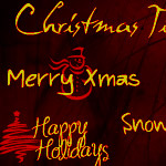 Christmas messages brushes