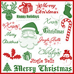 Assorted Christmas brushes