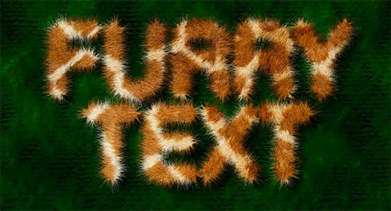 Fur text effect