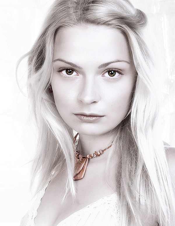 white skin portrait