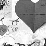 Valentine day card brushes