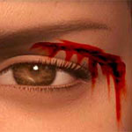 Wounded eye