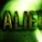 Alien text effect