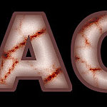 Blod stained text effect