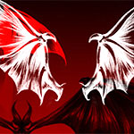 Demons and vampire wings