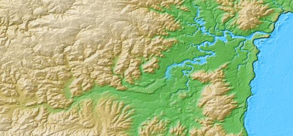 digital elevation map