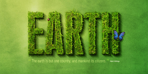 3d grass text effect