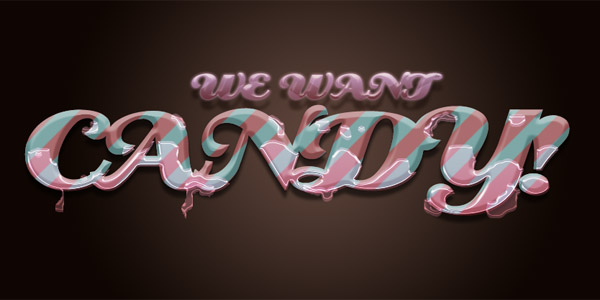 Candy coated text effect