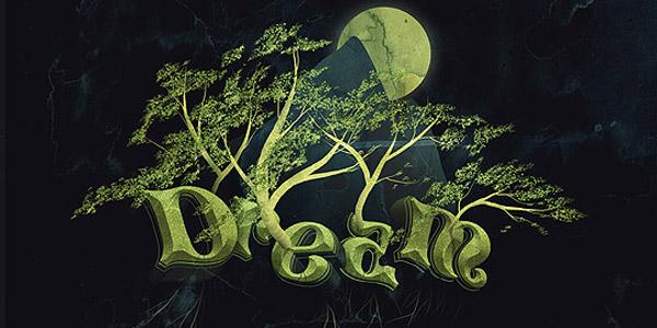 Dream design 3d text effect