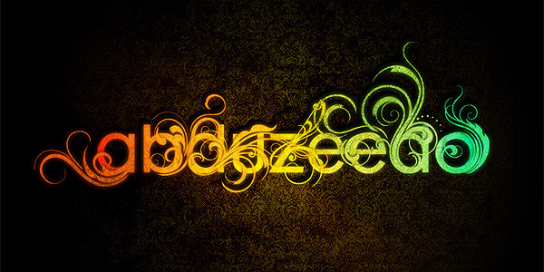 Frilly bits text effect