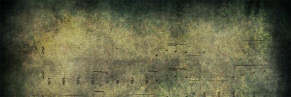 Grunge sheet music texture
