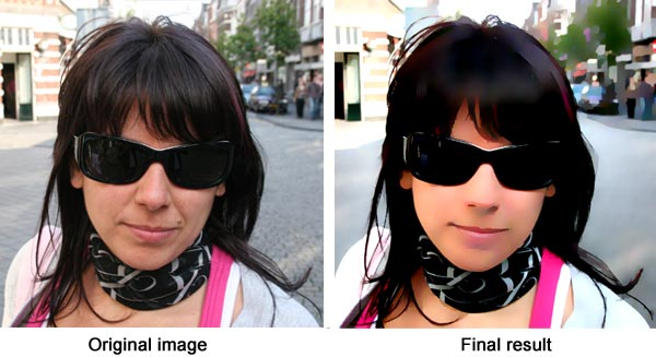 Photo to illustration effect
